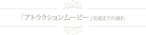 「アトラクションムービー」完成までの流れ